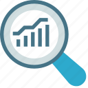 analytical, graph, qualitative, quantitative, report, statistical, table icon