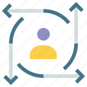 analyse, computing, future, predictions, sight, user, visualization icon