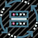 algorithms, data, methods, processes, programmed, science, technology icon