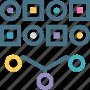 analytics, combination, data, random, sampling, statistics, variation icon