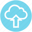 arrow, cloud, cloud computing, data, science, up, upload icon