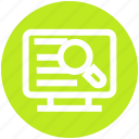 lcd, lcd with magnifier, magnifier, magnifying glass, search screen icon