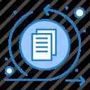 arrows, interface, data, process icon