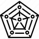 app, chart, data, pentagon, radar, radar chart with pentagon shape, shape