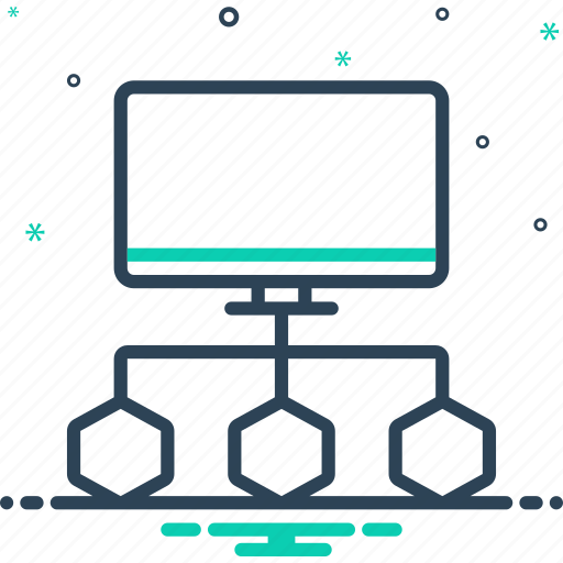 Connecte data flow chart, connection, corporate, diagram, flowchart, oranizational, process icon - Download on Iconfinder