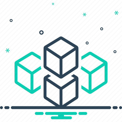 Cube graphic of squares, geometric, graphic, polygon, puzzle, square, technology icon - Download on Iconfinder