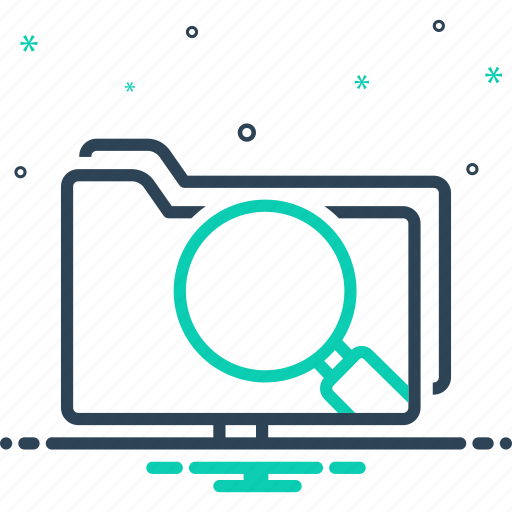 data search interface, information, interface, magnifier, magnifying glass, software, webpage icon
