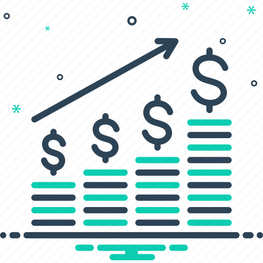 Achievement, diagram, dollar analysis bars chart, graph, growing business, management, statistic icon - Download on Iconfinder