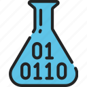 binary, data, data science, numbers, science, scientific, test icon