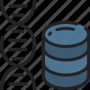 data, data science, dna, human, scientific, storage icon