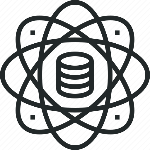 analysis, computation, core, data, database, power, science icon