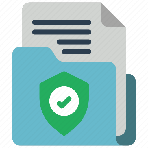 data, document, secure, security, shield icon