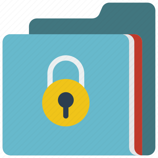 data, folder, lock, secure, security icon