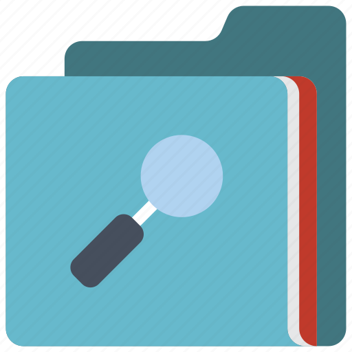 data, folder, search, secure, security icon