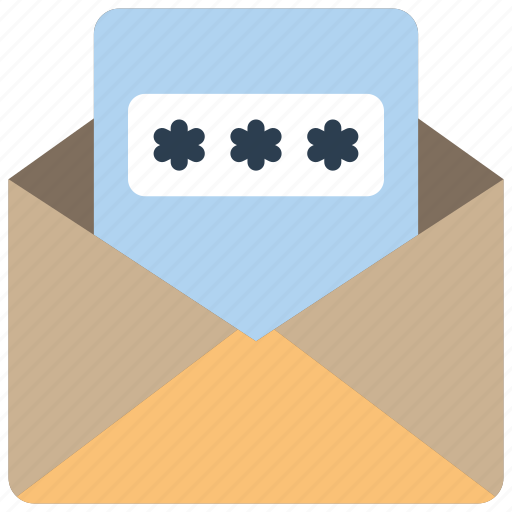 data, mail, password, secure, security icon