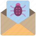 data, mail, malware, secure, security icon