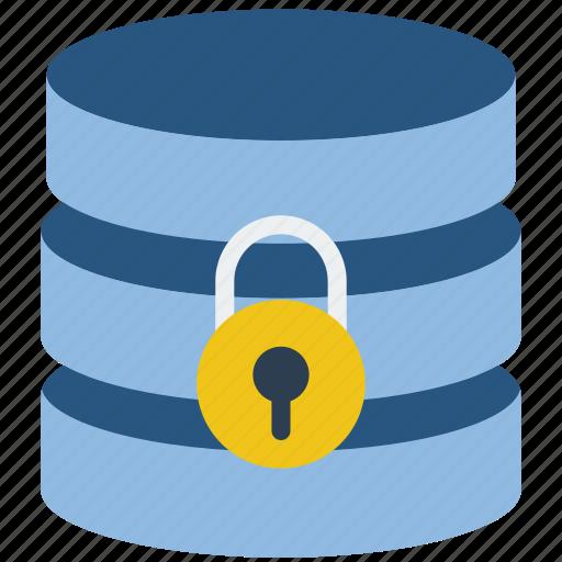 data, database, lock, secure, security icon