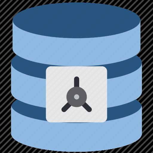data, database, safe, security icon