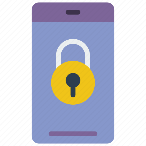 data, lock, phone, secure, security icon