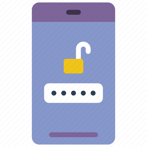 data, password, phone, secure, security icon