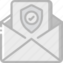 data, mail, security, shield, secure