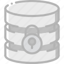 data, database, lock, secure, security icon