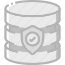 data, database, security, shield, secure
