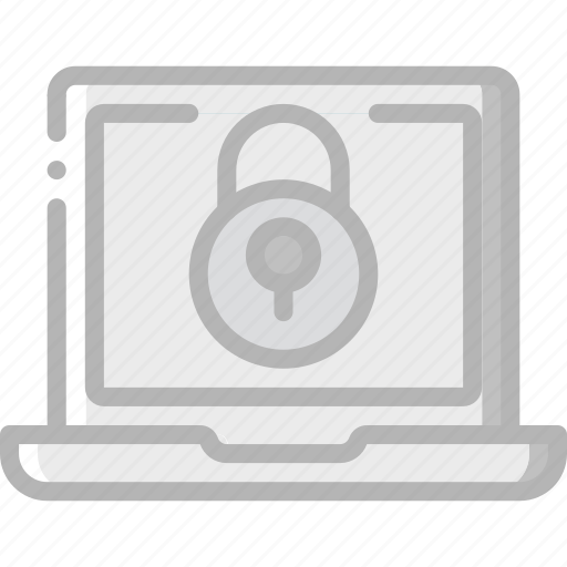 Data, laptop, lock, security, secure icon - Download on Iconfinder
