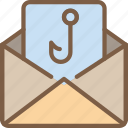 data, hook, mail, secure, security icon