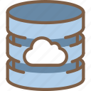 cloud, data, database, secure, security icon
