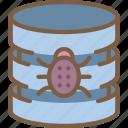data, database, malware, secure, security icon