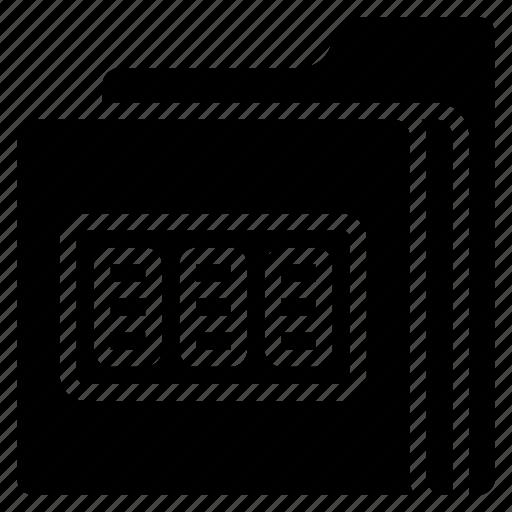 combination, data, folder, lock, secure, security icon