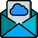 cloud, data, mail, secure, security icon