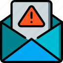 alert, data, mail, secure, security icon