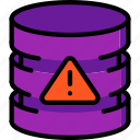 alert, data, database, secure, security icon