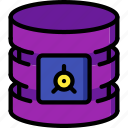 data, database, safe, secure, security icon