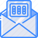 combination, data, lock, mail, security, secure icon