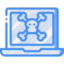 danger, data, laptop, secure, security icon