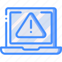 data, laptop, secure, security, warning icon