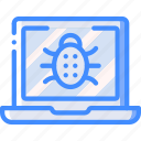 data, laptop, malware, secure, security icon