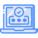 data, laptop, password, secure, security icon