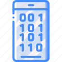 binary, data, phone, secure, security icon