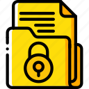data, document, lock, secure, security icon