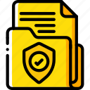 data, document, security, shield, secure icon