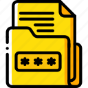 data, document, password, secure, security icon