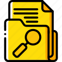 data, document, search, secure, security icon