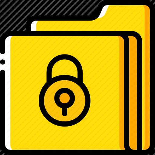 data, folder, lock, secure, security icon