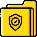 data, folder, security, shield, secure icon