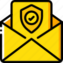 data, mail, security, shield, secure icon