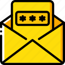 data, mail, password, security, secure icon